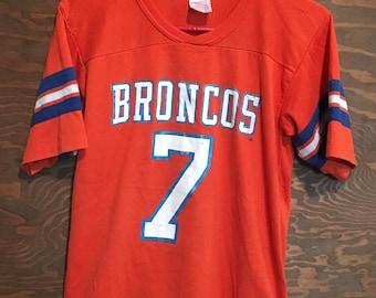 Vintage John Elway Denver Broncos 1980s Rawlings NFL Football tee t shirt     football t shirt    super bowl    Colorado Medium 0ae809dca
