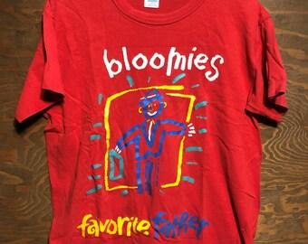 a0b0dd11586 Vintage Bloomies Favorite Father Bloomingdales Department Store 1980s Red  tee tshirt    vintage 80s clothing tshirt Large