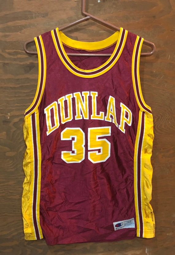 Vintage Dunlap #35 Sports Basketball Champion 1980