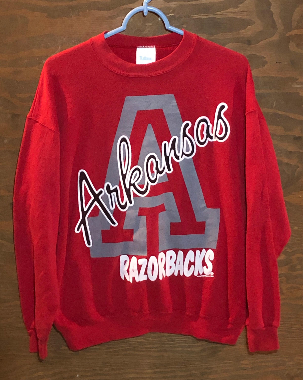 80s Tops, Shirts, T-shirts, Blouse   90s T-shirts Vintage University Of Arkansas Razorbacks Ncaa College 1980S Red Crewneck Sweatshirt  Sec Sports Large $59.00 AT vintagedancer.com