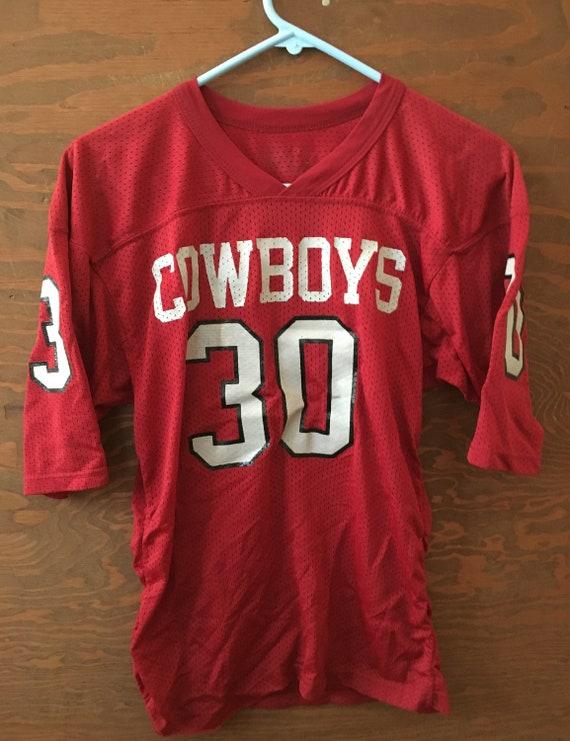 Vintage 80s Cowboys #30 Club 1980s Jersey // vinta