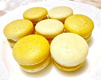 8 French macarons