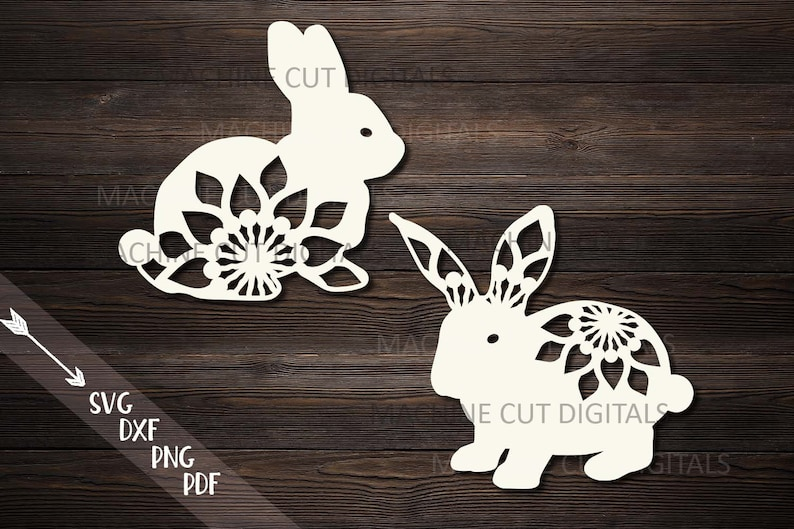 floral bunny svg, bunny mandala svg, easter bunny svg, rabbit svg,  papercutting template, laser cut, cricut easter, Easter sale svg, cameo
