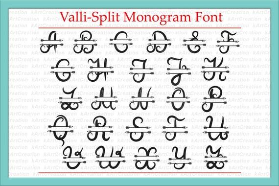 Download Monogram Letter I Svg File, Split Font With Arrows, Individual Letter Design