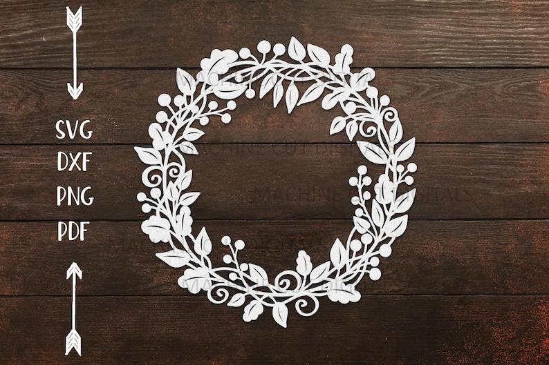 autumn cricut wreath svg Paper Cut Out svg fall wreath svg Laurel leaves wheat wreath svg laser cut for template thanksgiving sign svg