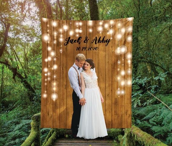 Rustic Wedding Backdrop Custom Wedding Backdrop Photo Booth | Etsy