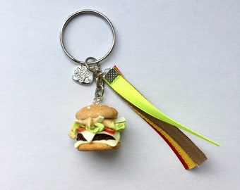Keychain - cheeseburger