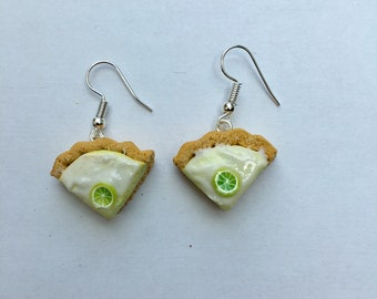 Dangle earrings - lime pie