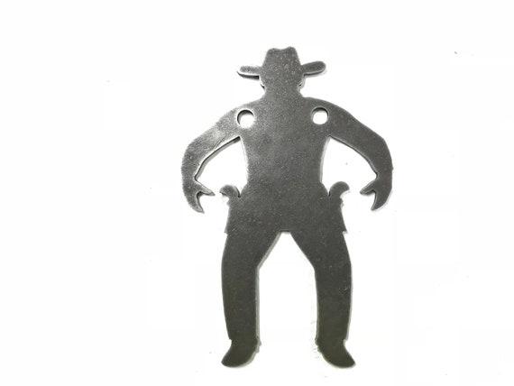 "AR500 Steel Target Cowboy Silhouette Gong 1//2/""x20/""x12/"""