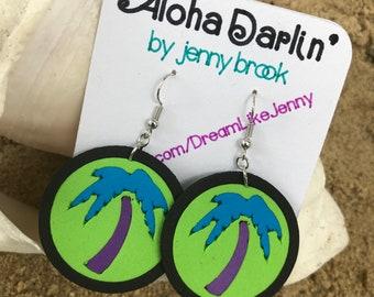 Tropical Palm Tree Earrings
