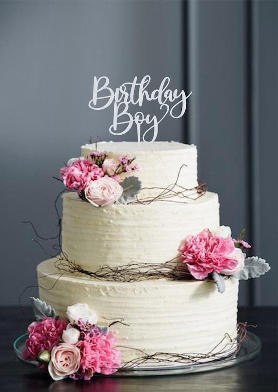Wondrous Birthday Boy Cake Topper Silver Cake Topper For Birthday Etsy Funny Birthday Cards Online Ioscodamsfinfo