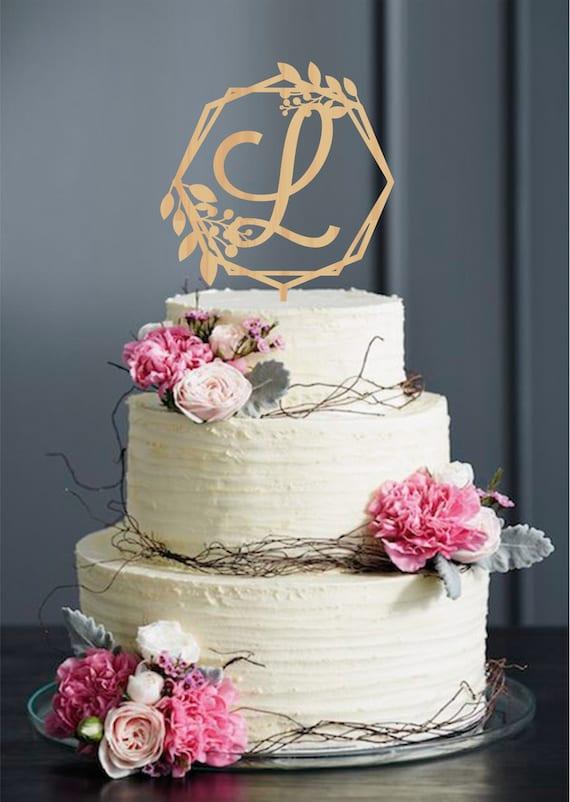 Letter L Wedding Cake Topper L Letter Cake Topper Single Initial Cake Topper Monogram Cake Topper Initials Cake Topper Single Letter