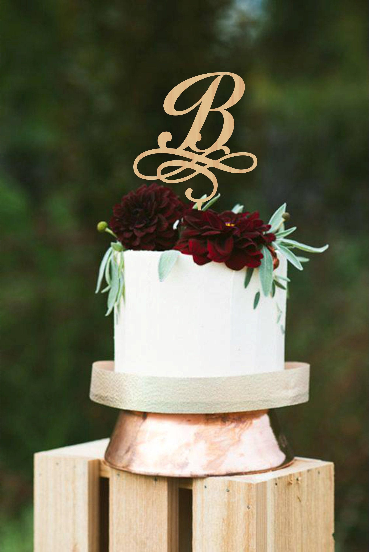 Initial Wedding Cake Topper B Cake Topper Letter B Wedding | Etsy
