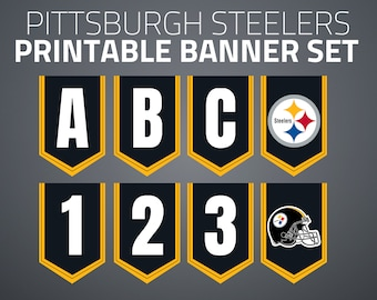 photo about Steelers Printable Schedule named Steelers printables Etsy