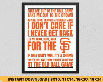 photo about Sf Giants Printable Schedule named Sf giants print Etsy