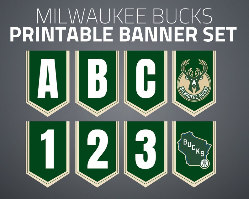 image regarding Milwaukee Bucks Schedule Printable titled Printable Milwaukee Pounds Banner Fastened