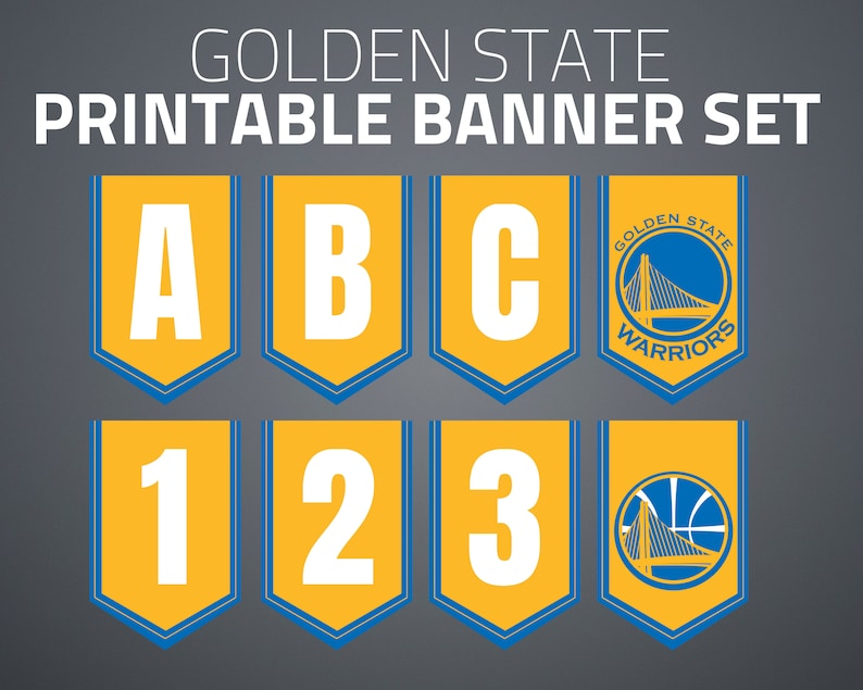 image about Warriors Schedule Printable named Printable Golden Nation Warriors Banner Mounted