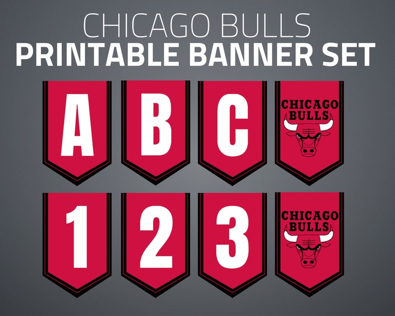 photograph about Chicago Bulls Schedule Printable known as Printable Chicago Bulls Banner Fastened
