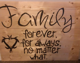Family , forever for always no matter what
