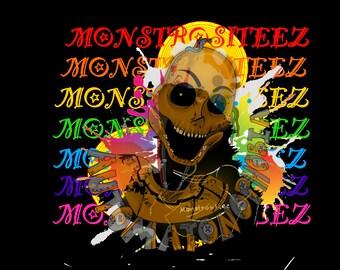 Unique Phobia Inspired Automatonophobia Monster Digital Artwork Download