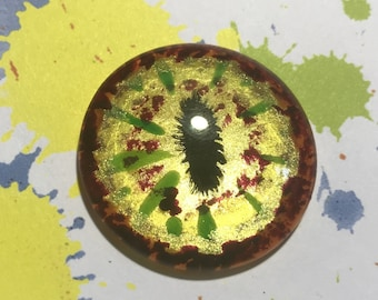 Unique hand painted one of a kind Pizza Monster eye