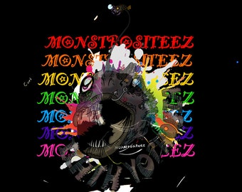 Unique Phobia Inspired Ichthyophobia Monster Digital Artwork Download