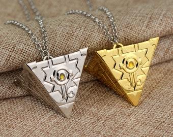 Yugioh pendant etsy trendy brandnew 3d yu gi oh necklace anime yugioh millenium pendant jewelry toy yu gi oh cosplay pyramid egyptian eye of horus necklace aloadofball Images