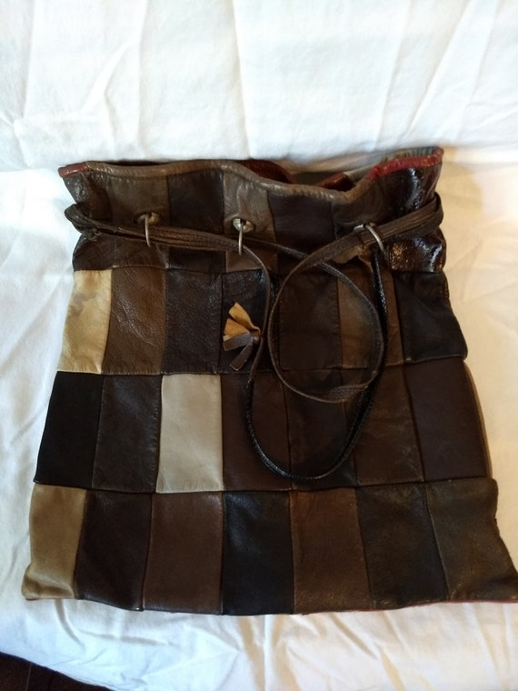 Vintage Leather Patchwork Purse