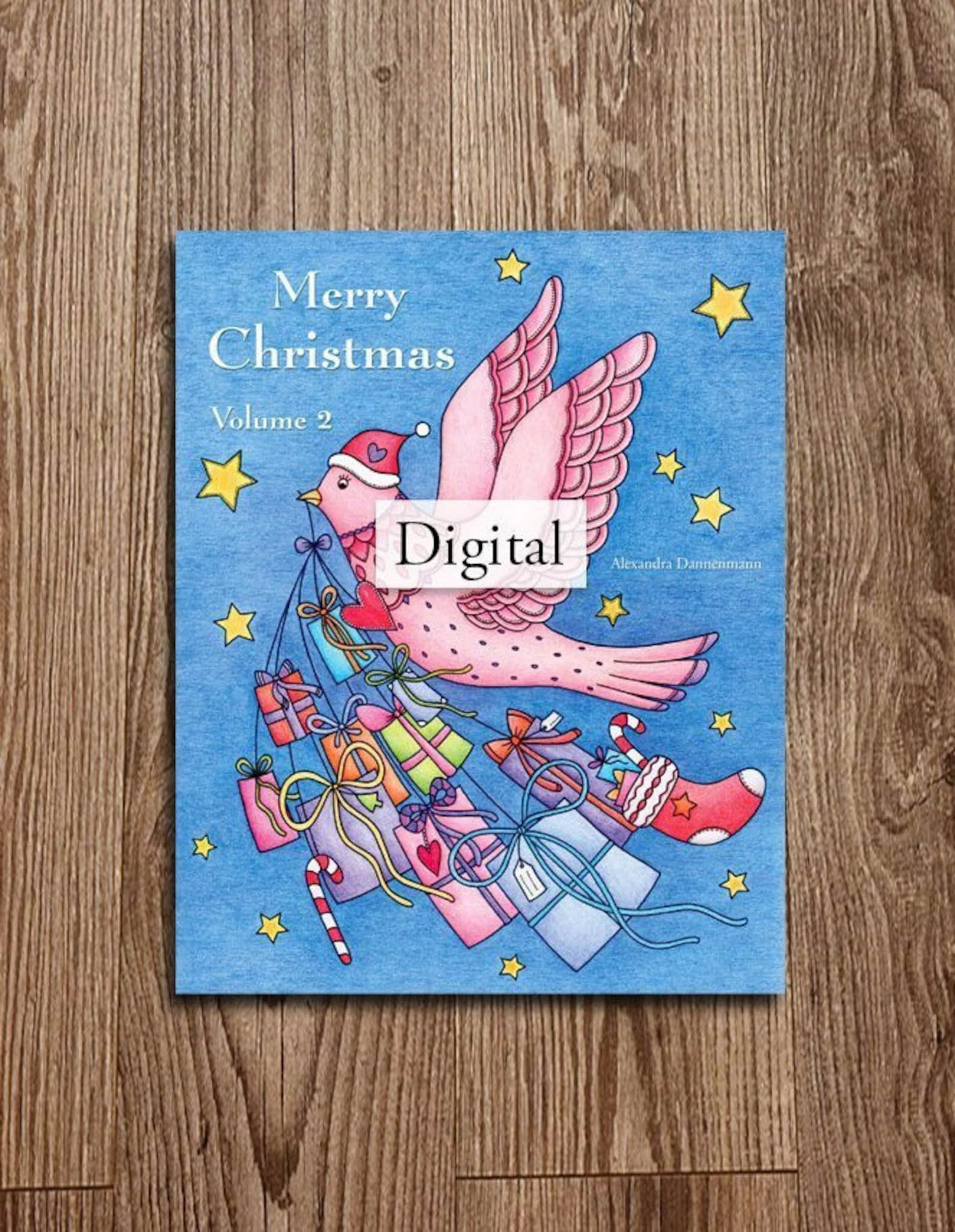 Merry Christmas Alexandra Dannenmann Etsy Coloring Book