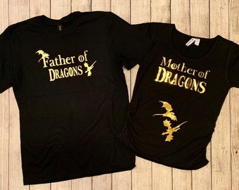 0407b711b7660 Mother and father of Dragons Game of thrones maternity shirts