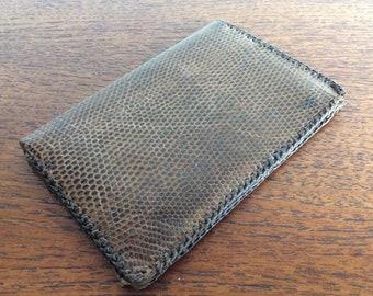 c6c4dc4b39e37e Vintage Men's 1950's Leather & Snakeskin Stylish wallet, original vintage  1950's wallet, vintage Gents wallet.