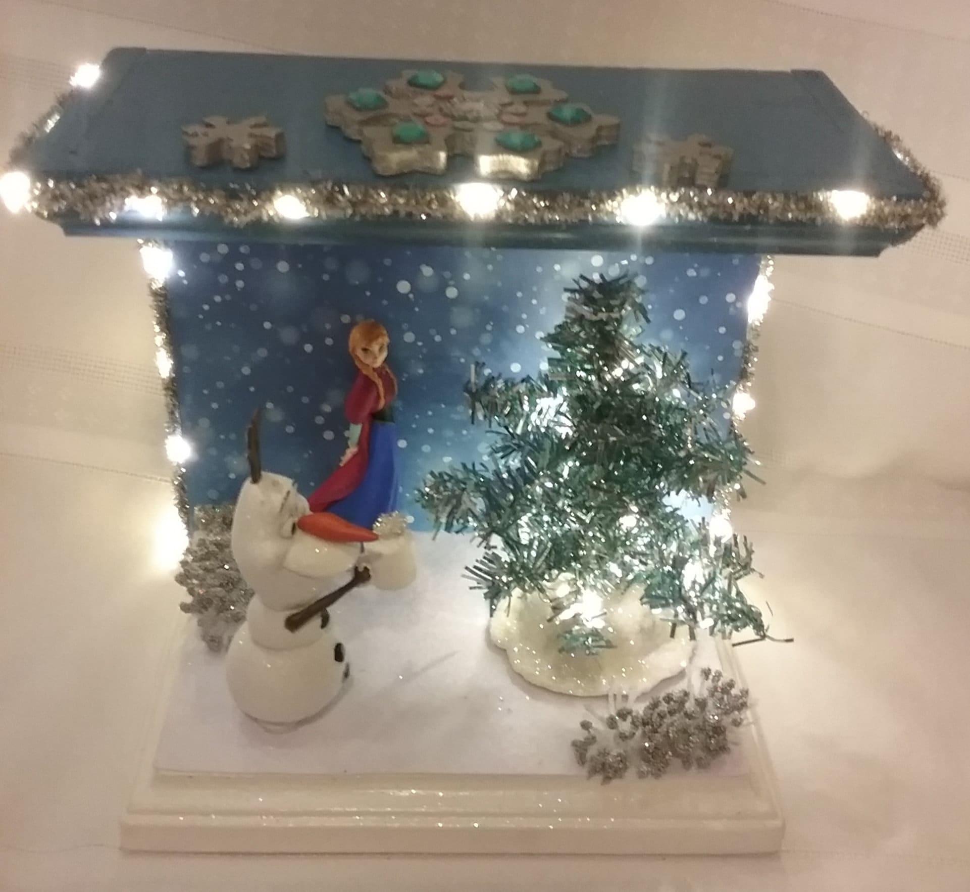 Disney\'s Frozen Olaf & Ann miniature scene | Etsy