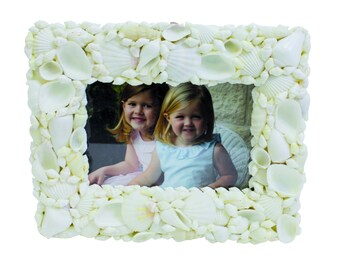 White Sea Shell Photo Frame