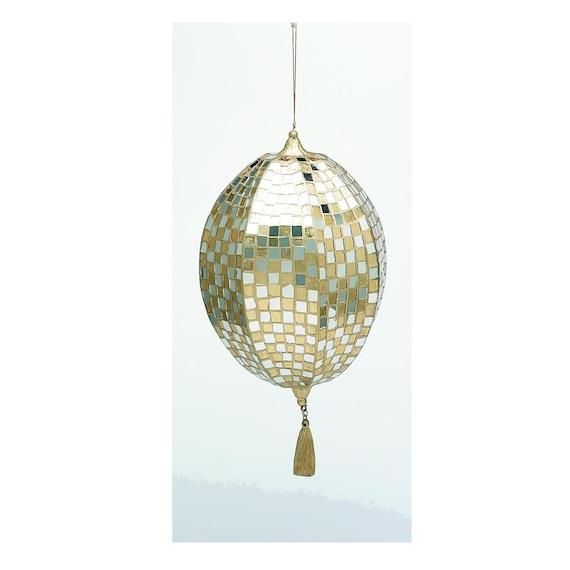 Miniature Mirrored Mosaic Disco Ball Ornaments30 Pieces