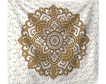 Mandala Beach Towel, Flower Wall Tapestry, Wall Hangings, Window Decoration, Vintage Printed Tapestry, DIY Decoration, Gifts, Wall Tapestry.