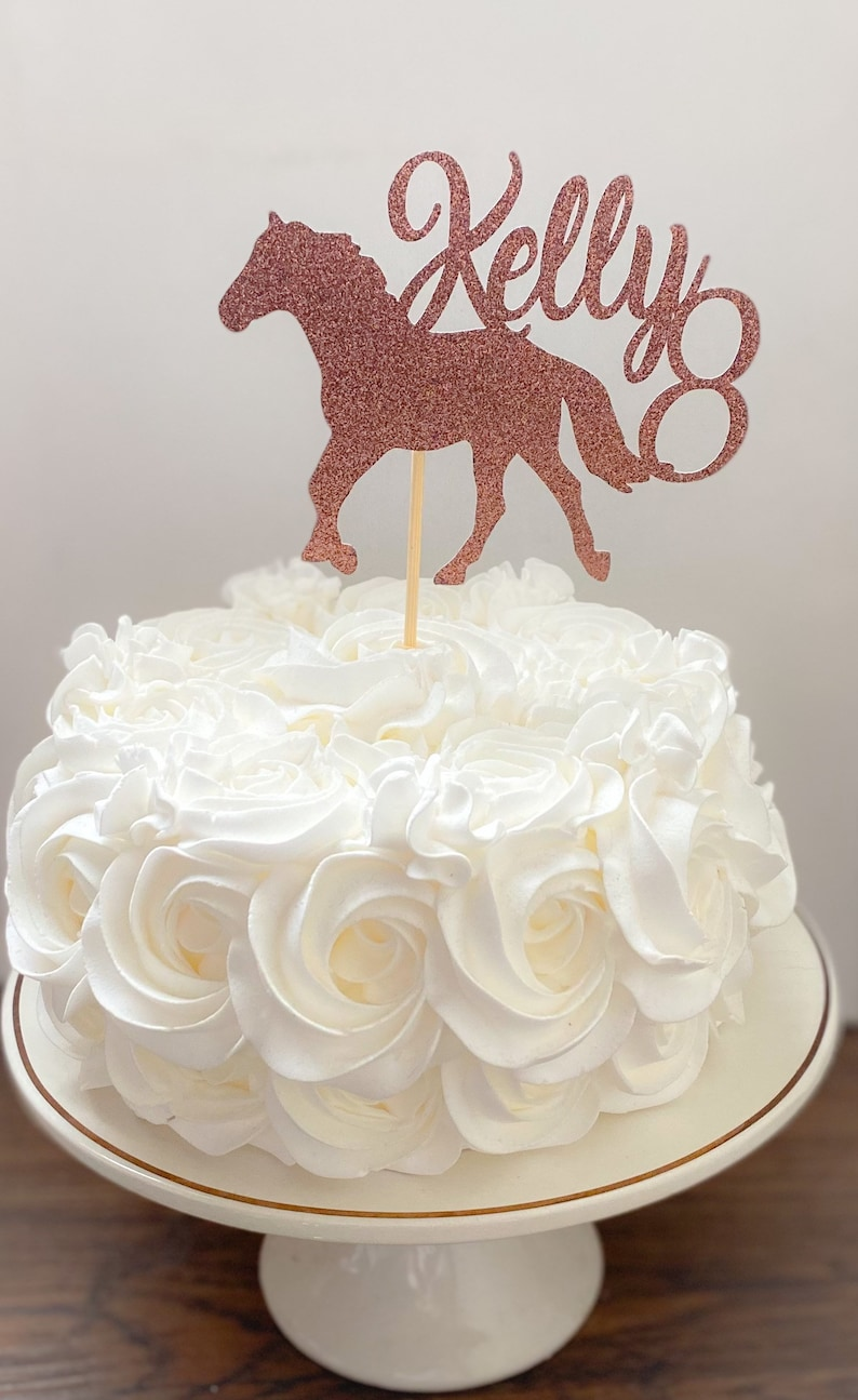 Horse Party Decorations Cowboy Cake Topper Western Cake Topper Cowgirl Cake Topper CUSTOM Horse Cake Topper