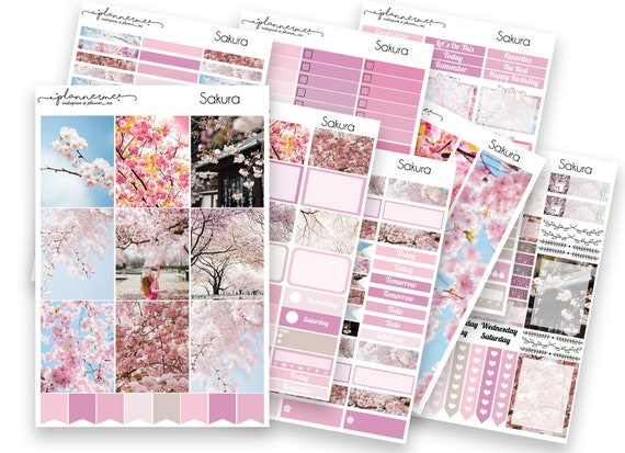 Winter Cosy Deluxe Sticker Kit for Erin Condren Vertical Planner Pink