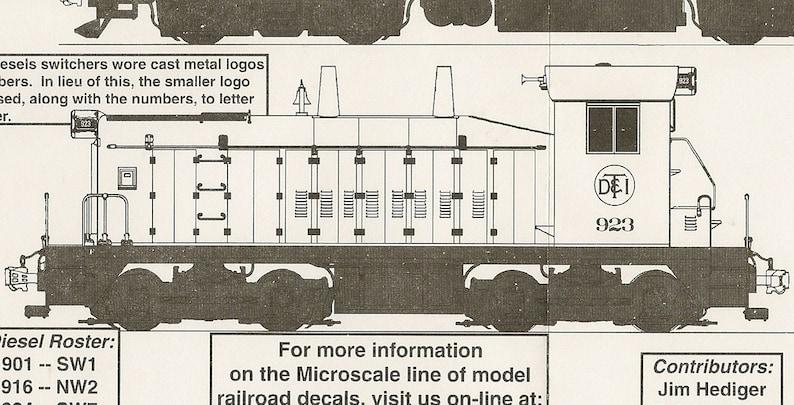 Microscale MC-4302 HO Scale Detriot Toledo & Ironton Diesel Locomotives  (1951-1955) Model Train Decals