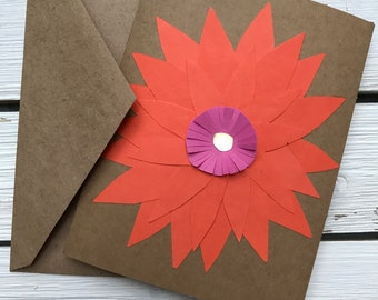 3D Floral Handmade Greeting Card