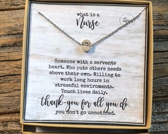 Nurse necklace, Heartbeat necklace, Thank you gifts for nurses, Nurse appreciation, Registered nurse gifts, LPN gifts, Nurses Week gifts