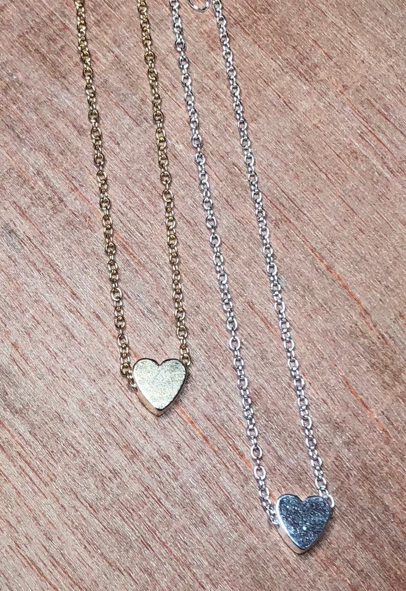 best friend gift 2 necklaces heart necklace pair of necklaces for friends Initial personalized Best friend necklace gift  best friend