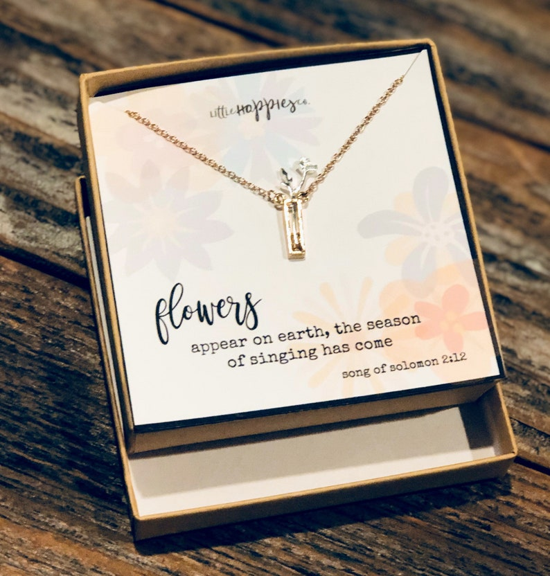 flower necklace Gift for her Miscarriage Gift women\u2019s jewelry inexpensive gift Miscarry Encouragement Neckace Necklace