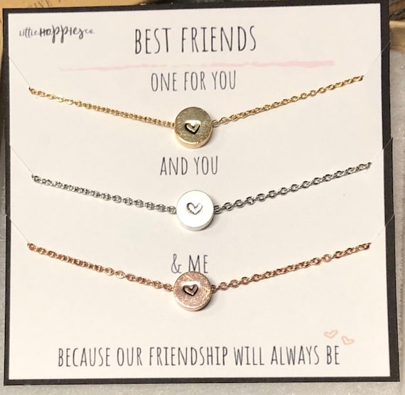 Long Distance Friendship Necklace Best Friend Birthday Gifts Friendship Necklace Grateful For You Necklace Best Friend Necklace Heart