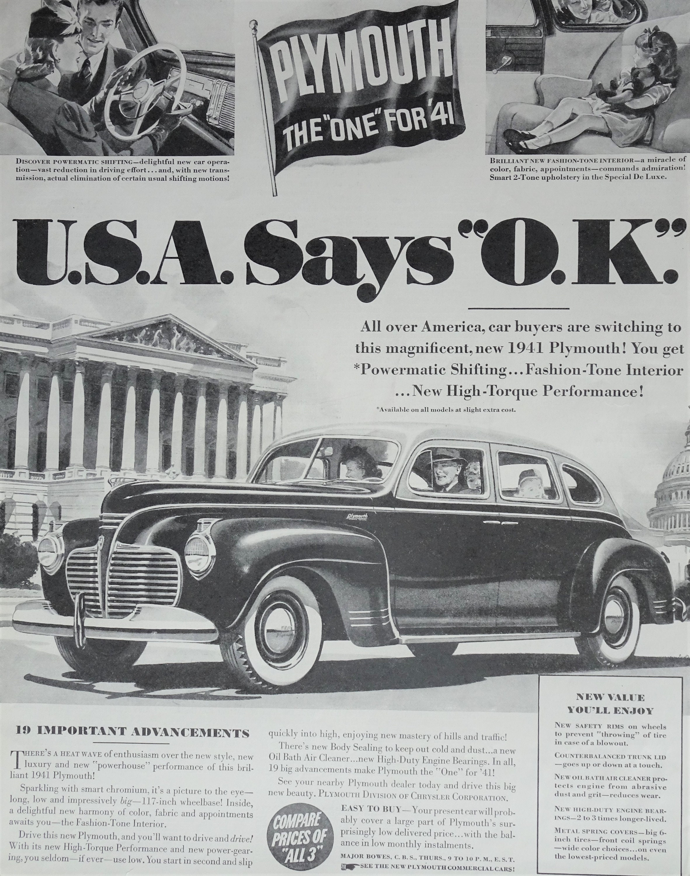 1941 Plymouth Car Vintage Magazine Ad Print Ads Wall Decor Etsy Station Wagon Image 0 1