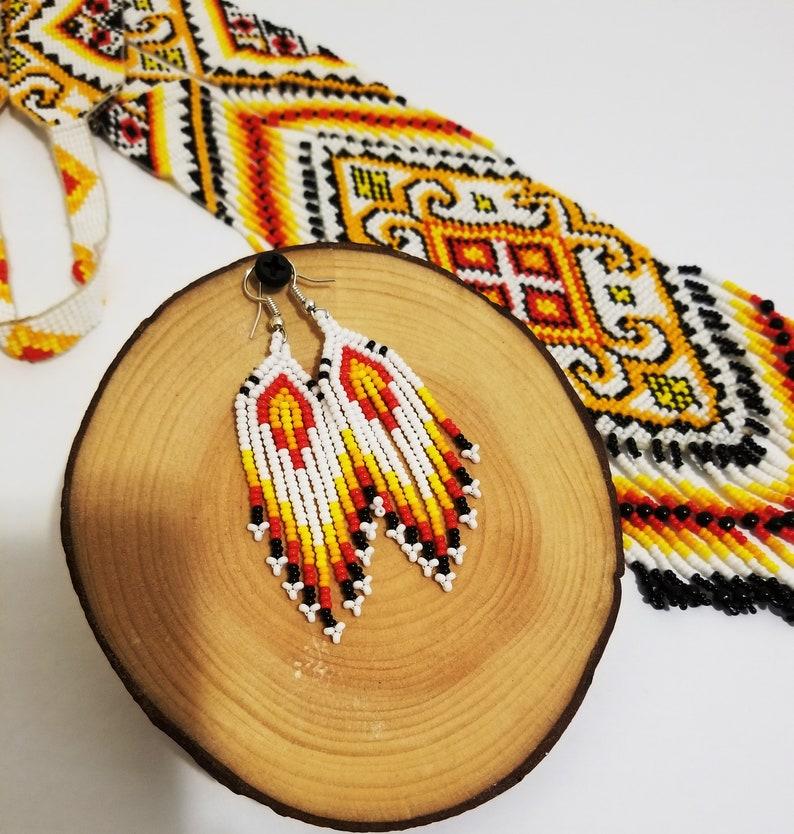 Gift Necklace Beaded Earrings Native American Beaded Necklace Traditional Beaded Handmade Necklace Set HandmadeForLESS!