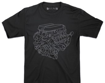 Lamborghini Huracán Engine T Shirt / Black