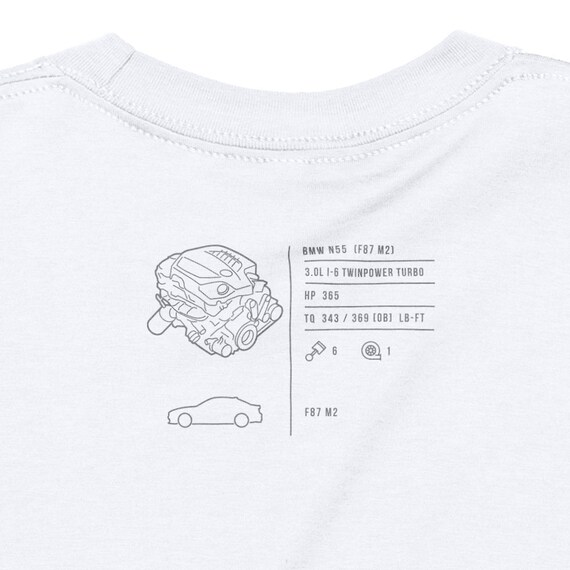 BMW M2 Engine T-Shirt【N55】/ White