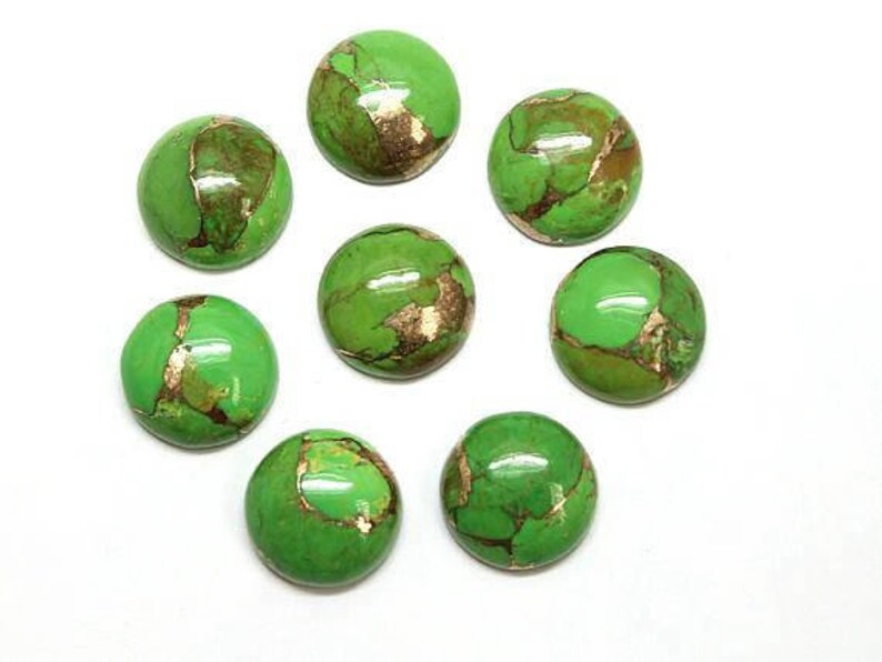 Copper Turquoise Round Turquoise Cabochon AAA Copper Turquoise 10mm Round Cabochon 25 Pcs 10mm Green Copper Turquoise Round Cabochon