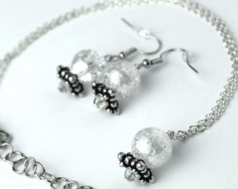 Madam Leota Inspired Crystal Ball Jewelry | Haunted Mansion Jewelry | Crystal Ball Earrings | Crystal Ball Necklace | Disney Haunted Mansion