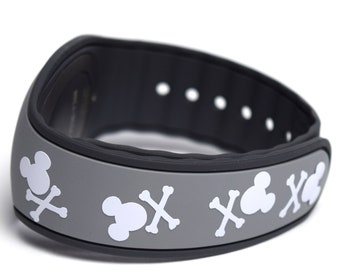 MagicBand Crossbones Mickey Decal | MagicBand Pirates of the Caribbean Decal | MagicBand Sticker | MagicBand Pirate Decal | Mickey Pirate